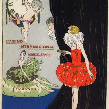 Menu do Reveillon 1930-31 no Casino Internacional do Monte Estoril