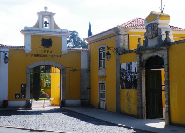 "Entrance ""Fábrica da Pólvora de Barcarena"""